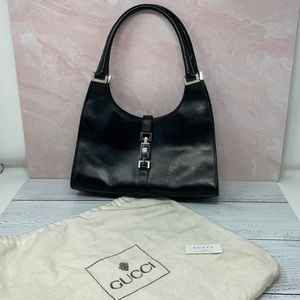 Vintage Gucci Jackie Bardot Bag in Black G4